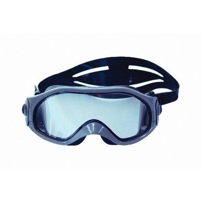 Watersportbril M-105 grijs met zwart silicone rand en band