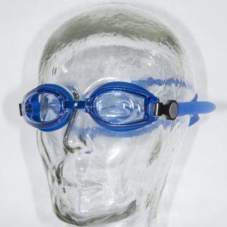Blauwe kinderzwembril lichtblauwe glazen
