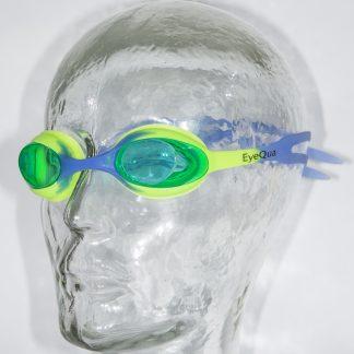 Kinderzwembril Comfort junior groen-blauw